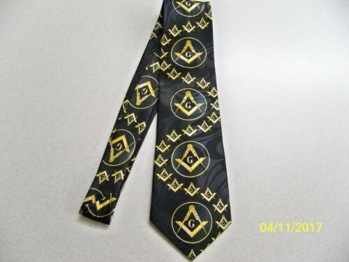 Mason Masonic square  compass quality mens necktie #46 Fraternal Freemasonry