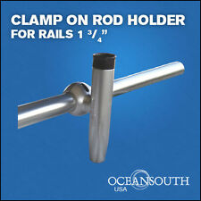 """HEAVY DUTY  CLAMP ON FISHING  ROD HOLDER  FOR RAILS 1 3/4"""""""
