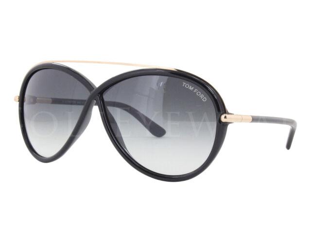 466fe9dc3383 NEW Tom Ford FT0454 01B Tamara Shiny Black   Grey Gradient Sunglasses (NO  CASE)