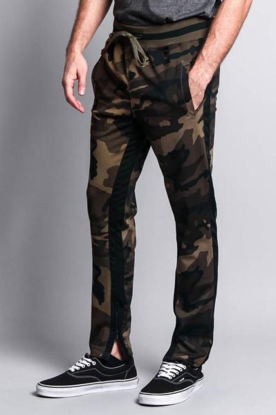 2019 Nuovo Stile Victorious Contemporaneo Abbigliamento Stile Dual Stripe Pantaloni Cerniera