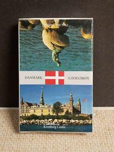 Danmark Deck of Playing Cards Vtg New Sealed The Little Mermaid Kronborg Castle