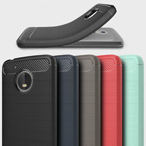 check out 70ad8 ba523 Details about Hybrid Rubber Silicone Soft TPU Brushed Case Cover For  Motorola Moto G5/G5 Plus