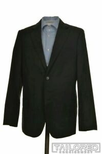 VALENTINO-Black-Box-Check-100-Wool-Mens-Blazer-Sport-Coat-Jacket-40-R