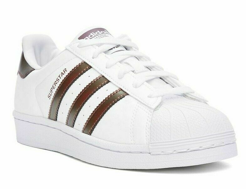 ADIDAS SUPERSTAR J WHITE pink gold ATHLETIC RUNNING RUNNING RUNNING SHOES 5.5Y = Size 7 WOMENS e8b838