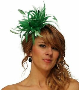 Image is loading Emerald-Green-Fascinator-hat-choose-any-colour-satin- 34a51811a98