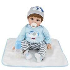 Windboy 22in Lovely Lifelike Cute Baby Girl Reborn Baby Doll Soft Silicone Vinyl