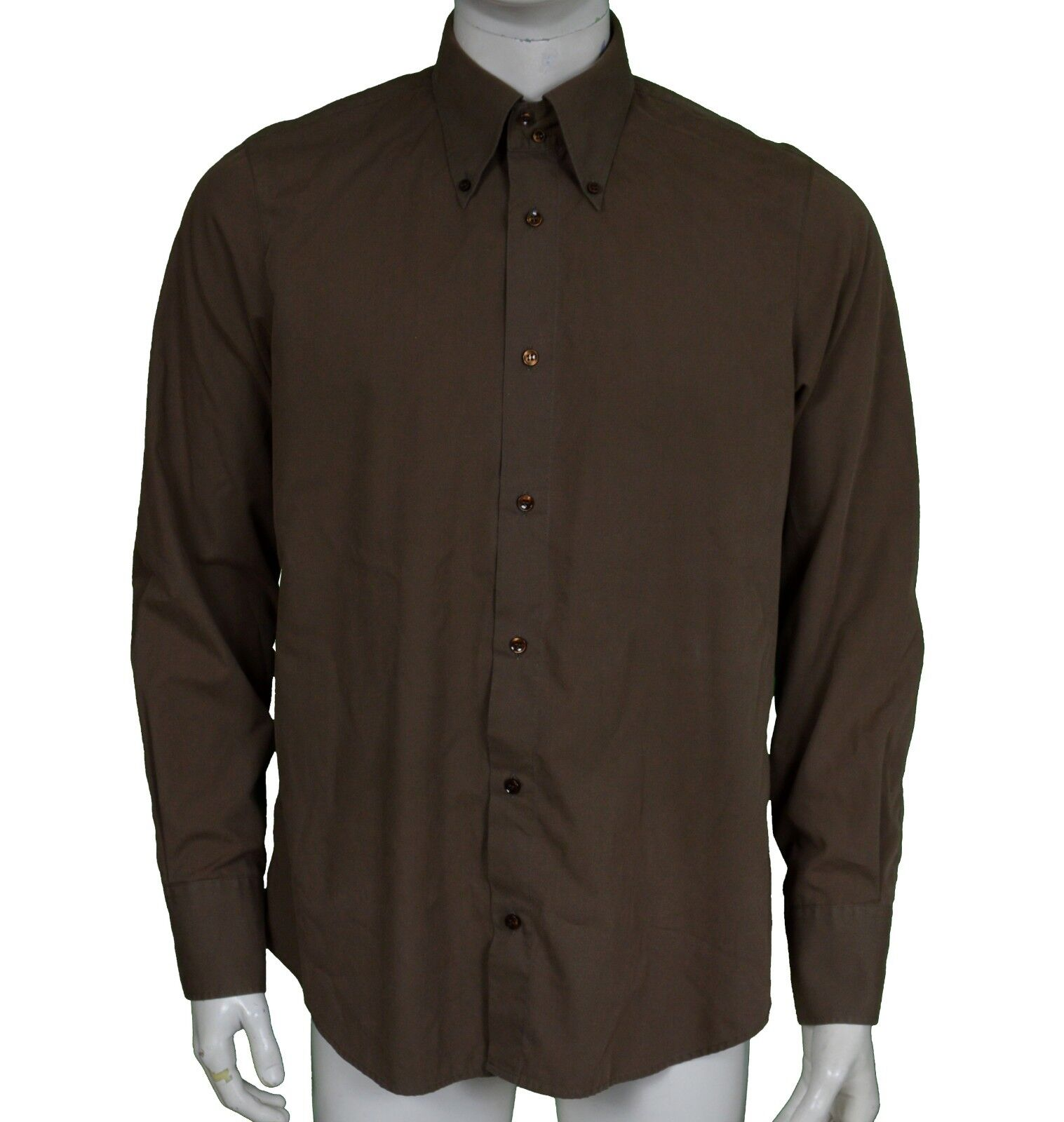Armani AJ Armani Jeans Long Sleeve Brown Shirt Men's Size XL