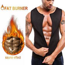 Fajas Sauna Reductoras Abdomen Para Hombres Chaleco Perdida Peso Body Shaper Gym