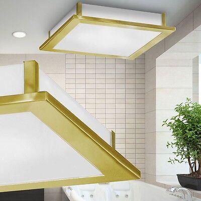 Decken Leuchte Badezimmer Beleuchtung Messing matt 2050 Lumen Glas Bad Lampe NEU
