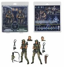 """NECA ALIENS 7"""" SCALE HICKS AND HUDSON COLONIAL MARINES 2-PACK 30TH ANNIVERSARY"""
