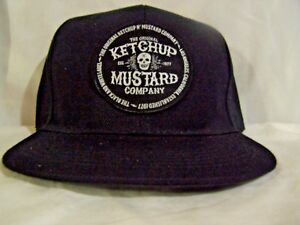 f4891cf1243 Image is loading Ketchup-amp-Mustard-Skull-Baseball-Hat-Black