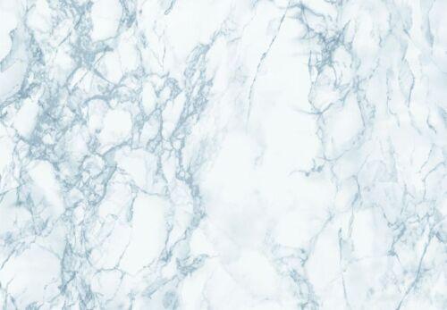 67CM Wide CARRERA  BLUE GREY MARBLE STICKY BACK PLASTIC SELF ADHESIVE VINYL FILM
