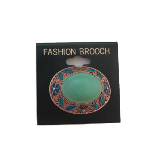 Antique Turquoise Brooch - Persian Turquoise Gold