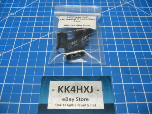 470uF 50V Axial lot of 5 Electrolytic Capacitors SC Brand