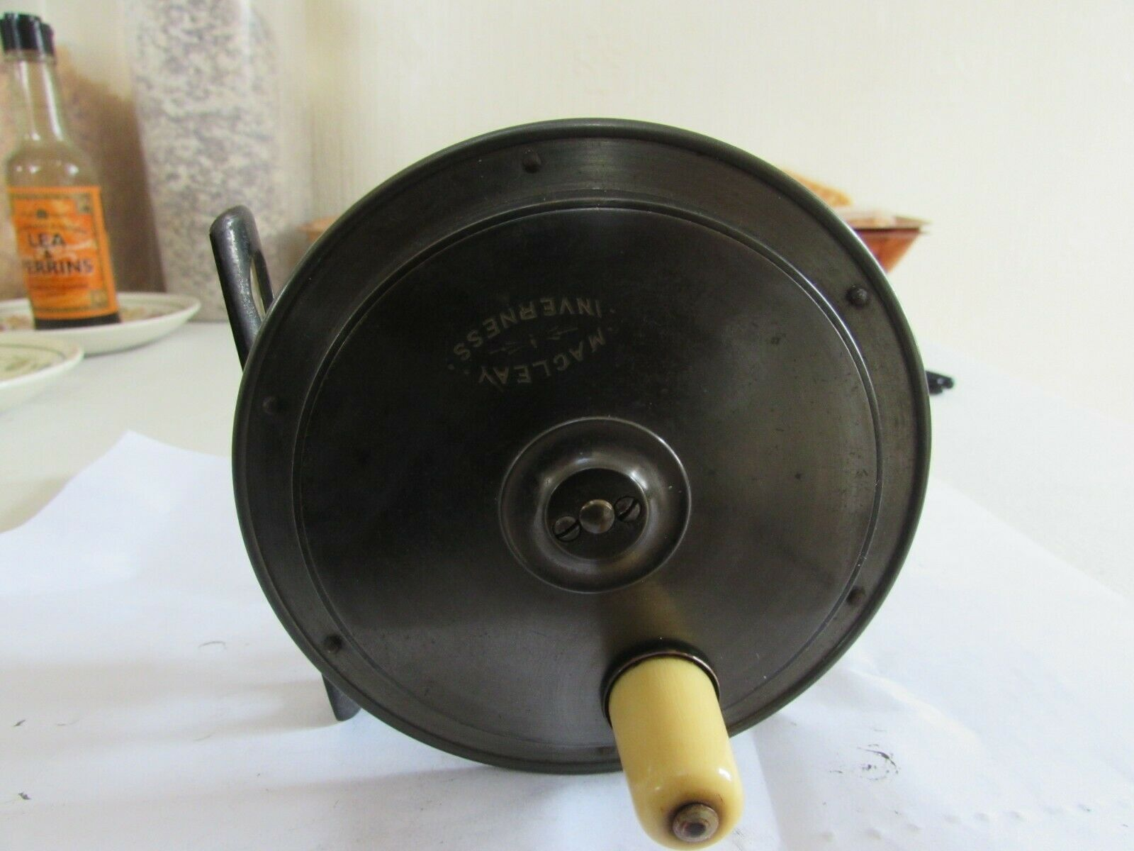 A1 stunning vintage malloch macleay inverness brass hercules  salmon reel 4.5   up to 42% off