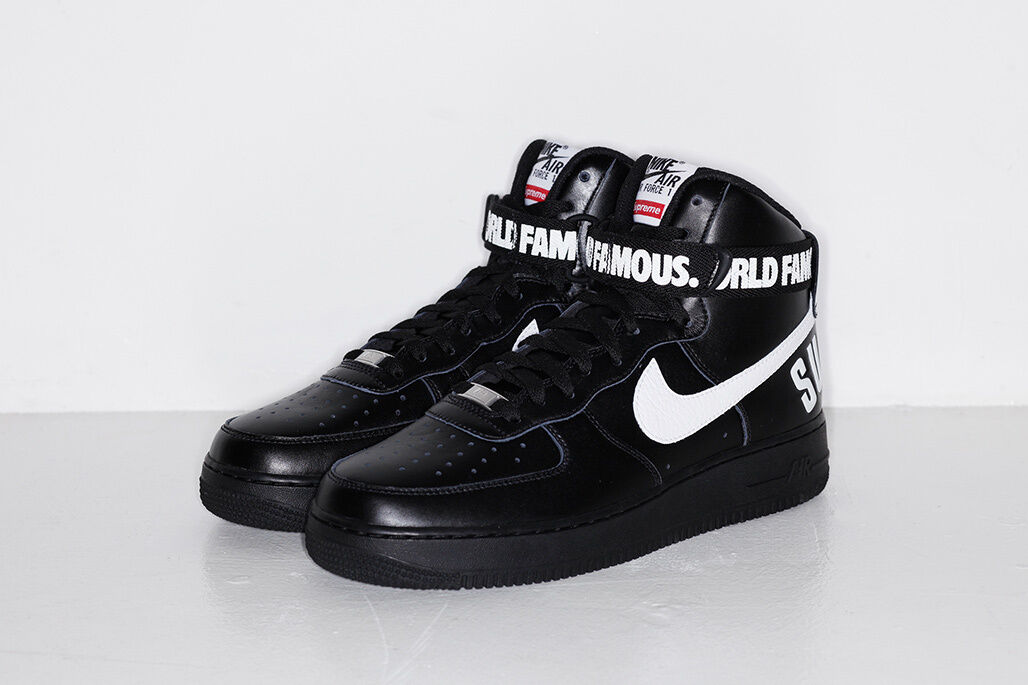 Supreme F W 2014 Nike Air Force 1 High SP Black White (698696-010 ... 8790f10175