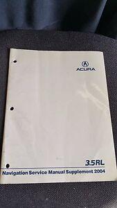 acura rl 2004 service manual