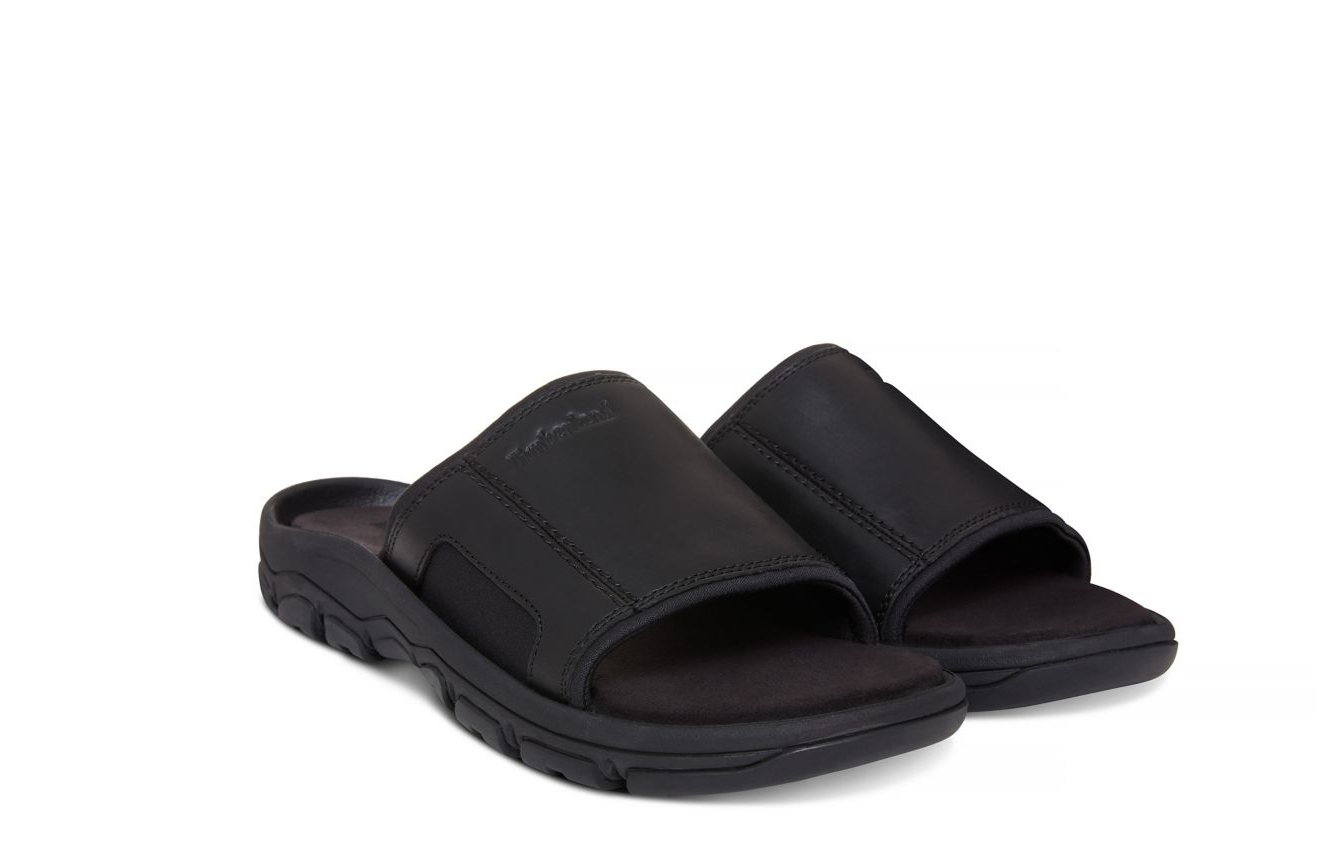 TIMBERLAND Schuhe Herren Pantoletten A1OWG Roslindale Sandal Schwarz Leder