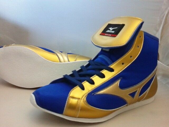 MIZUNO Boxing shoes Short type blueee & gold color Made in JAPAN