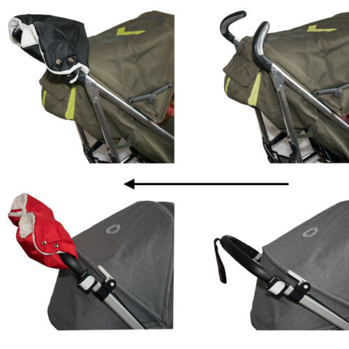 Pushchair /& Buggy Glove Premium Pram Hand Muff Stroller Mitt Fleece Lined