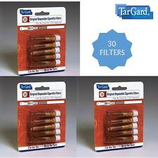 TarGard Disposable Amber Cigarette Filters 30 Pack Tar Gard Guard Stop Tar Block