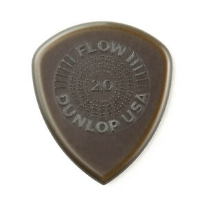 Dunlop 549P2.0 Flow Standard Grip Guitar Picks - 6pk - 2.0mm