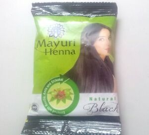 Details about 10 x Black Herbal Henna Hair Powder Indian Ayurvedic Herbs  Hair Color