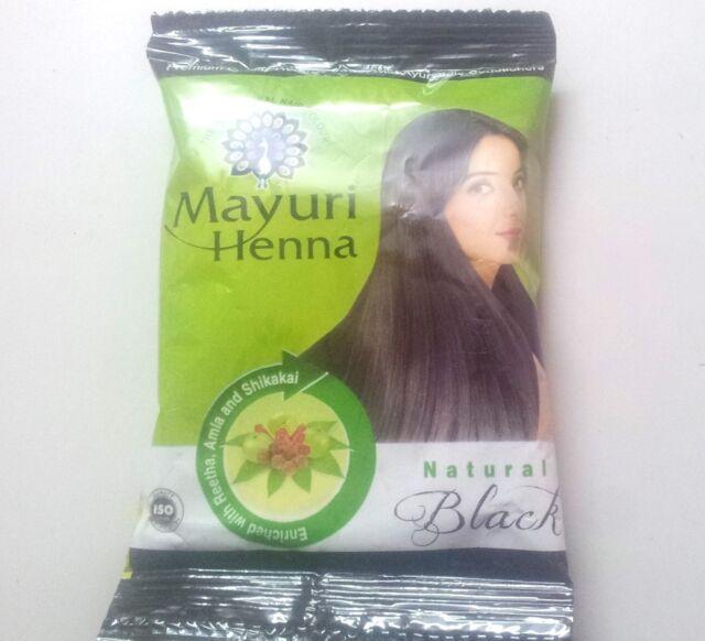 10 X Black Herbal Henna Hair Powder Indian Ayurvedic Herbs Haircolor