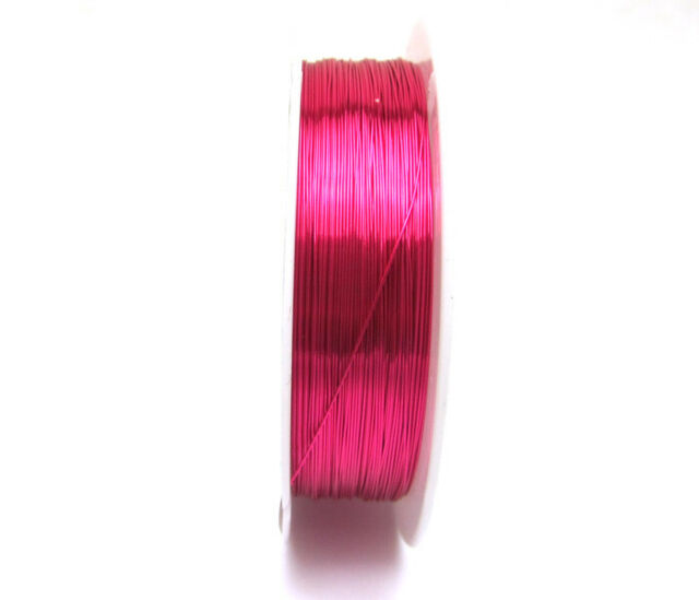 NEW 18M(1roll)  Rose Copper wire craft wire Beaded line wrap jewelry