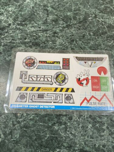 Vintage 1989 Ghostbusters Hardees Gigameter Ghost Detector Sticker Decals *NEW*