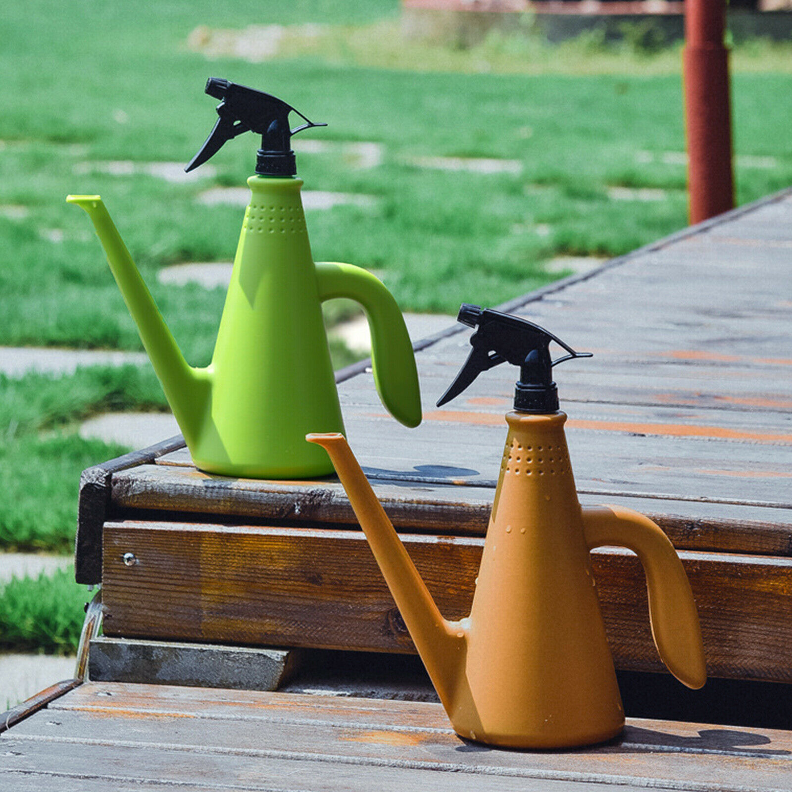 1L Indoor Small Watering Can Long Narrow Spout Sprinkler Sprayer Kettle Plants