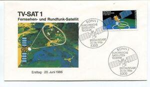 Copieux 1986 Tv-sat 1 Fernsehen Rundfunk Satellit Ersttag Bonn 1 Europaische Satelliten PréParer L'Ensemble Du SystèMe Et Le Renforcer
