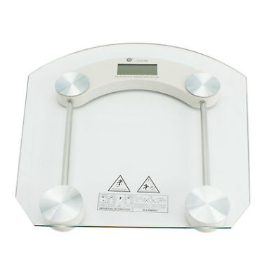 180KG 396lb Tempered Glass Digital Electronic Body Scale