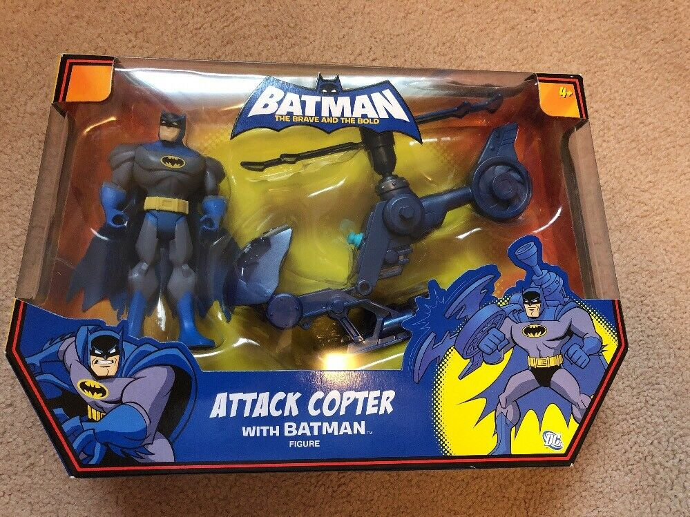 Batman Attack Copter The Brave And The Bold Mattel Brand New Rare Figure DC WOW