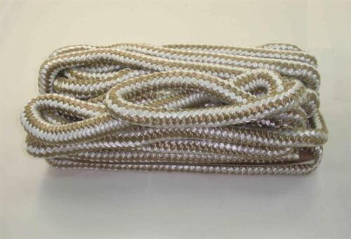 Marine Grade Double Braid Nylon Rope 3/4 x 50ft Gold for Dock Anchor Line 23018