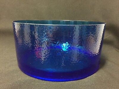Nice Dark Blue Pebbled Acrylic Lage Serving Salad Bowl | eBay