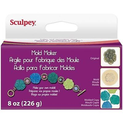 Sculpey MOLD MAKER 226 gr - Polymer clay to make FLEXIBLE MOLDS - Foodfriendly