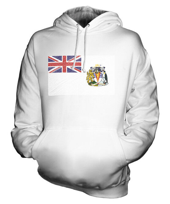 BRITISH ANTARTIC TERRITORY SCRIBBLE FLAG UNISEX HOODIE TOP GIFT FOOTBALL