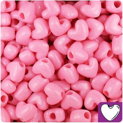 *3 FOR 2* 50 Baby Blue Opaque Heart Shape 12mm Highest Top Quality Pony Beads