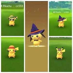 Pokemon Go Summer Hat Santa Halloween Detective Straw Hat Pikachu Ebay