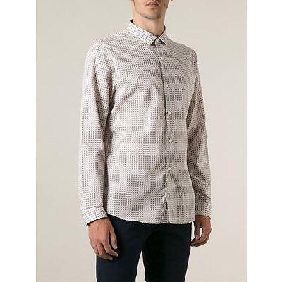 MICHAEL KORS Slim Fit MICROCHECK Dress Shirt COTTON XXL $145 Free Shipping