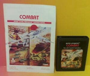 Atari-2600-Combat-Game-amp-Instruction-Manual-Tested-Works-Rare