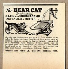 1948 Print Ad Bear Cat Roughage Mill Western Land Roller Co Hastings,NE