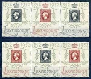 Luxemburg-Nr-488-489-postfrisch-2-Centilux-Dreierstreifen-53640