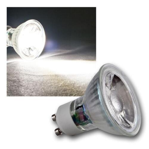 COB GU10 Glas Leuchtmittel daylight weiß 420lm Strahler Birne Spot Lampe 230V 5W