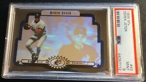 1996-SPx-DEREK-JETER-ROOKIE-43-PSA-9-FUTURE-HOF-LOW-POP-YANKEES-852