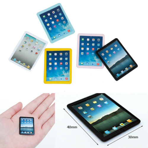 1Pc 1:12 Dollhouse miniature tablet computer toy doll room accessories ^D