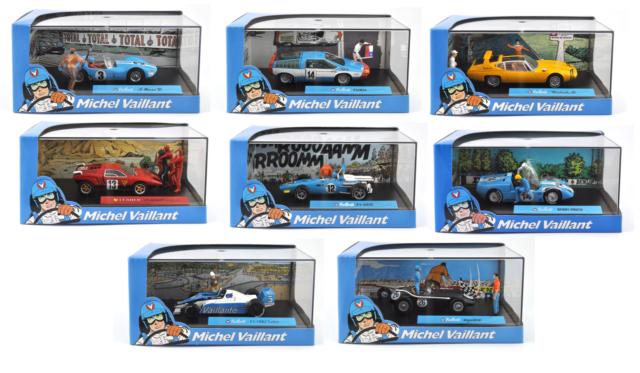 Lot de 8 voitures collection Michel Vaillant 1/43 - BD DIECAST MODEL CAR V1
