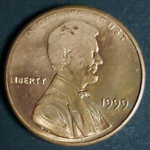 ERROR!!*1999-P LINCOLN MEMORIAL CENT*STRUCK THRU OBVERSE AND REVERSE*NICE ERROR!