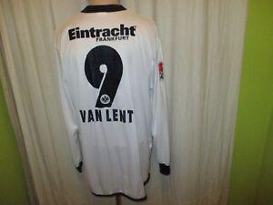 Eintracht-Frankfurt-Jako-Langarm-Matchworn-Trikot-2005-06-Nr-9-Van-Lent-Gr-XL